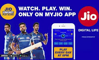 Jio Cricket Play Along - IPL Jio Live Mobile Game