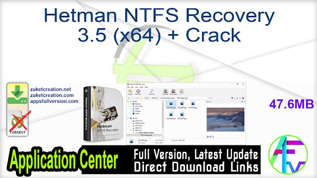 Hetman NTFS Recovery 3.5 (x64) + Crack