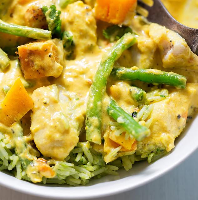 Chicken Butternut Squash Samla Curry