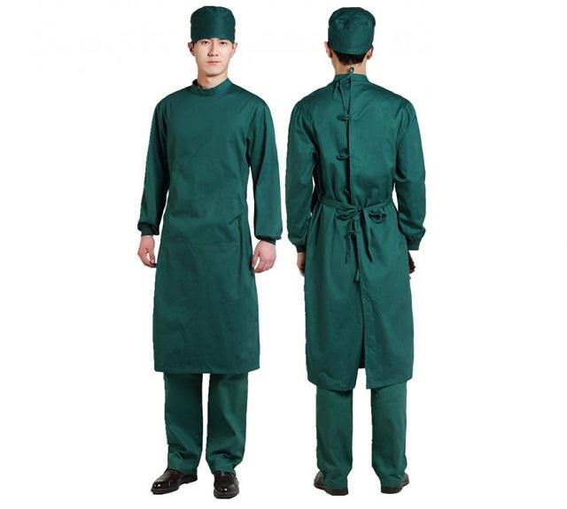 Đồng phục phẫu thuật có áo choàng