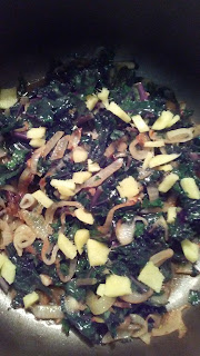 kale, ginger, onion