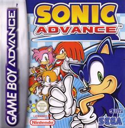 Imagen con el cartucho de Sonic Advance para Game Boy Advance
