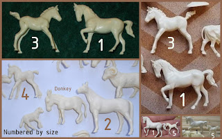 Vitacup Farm and Zoo Plastic Figurines Novelty Premium Animals Freebies Horses Ponies Foals Plastic Toys, Small Scale World, smallscaleworld.blogspot.com