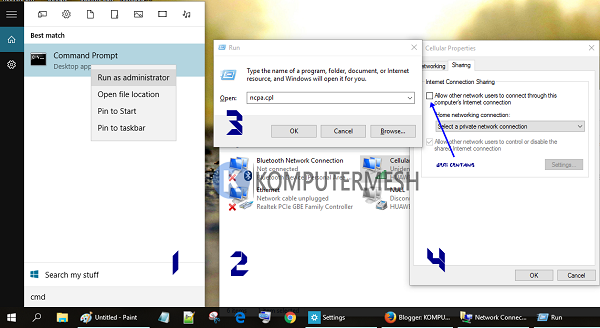 Tutorial Membuat Wifi Hotspot di Windows 10 Lengkap