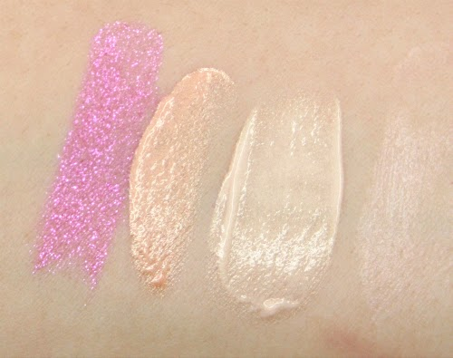 Swatches Urban Decay Vice Lipstick Big Bang Becca Opal liquid Glamglow Gowstarter Josie Maran Surreal Skin