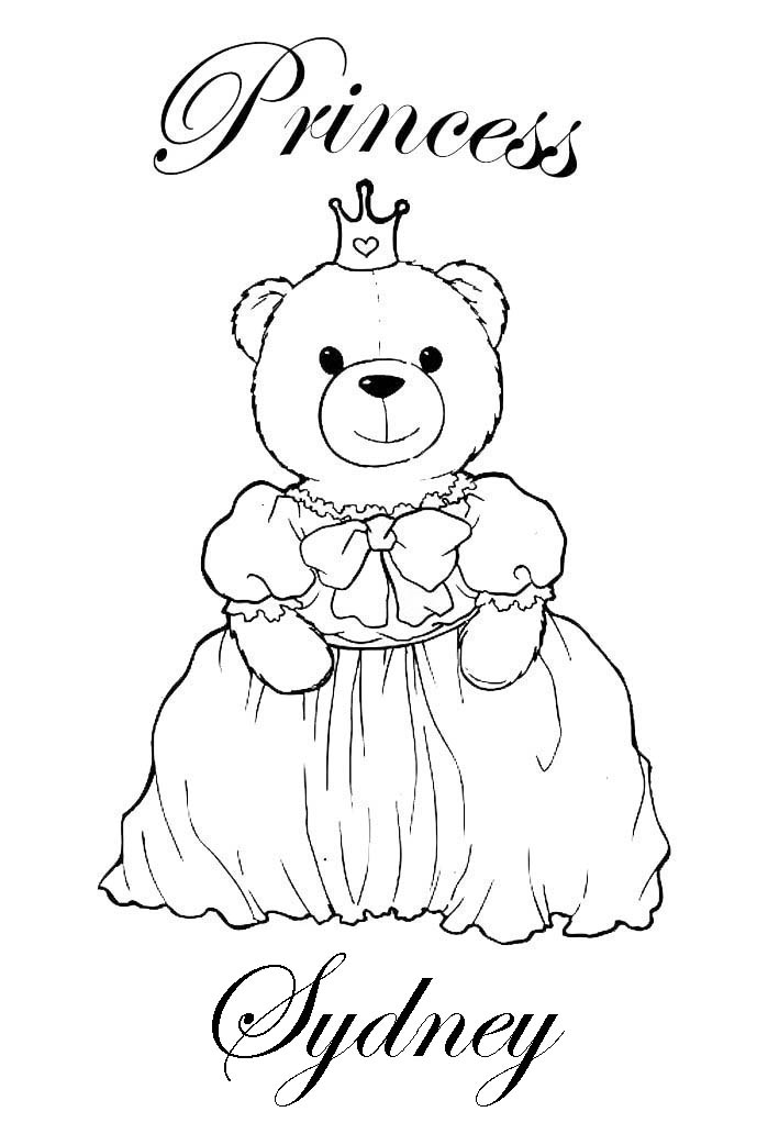 Sydney Name Coloring Pages Coloring Pages