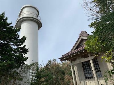 恵比須島の神社と指向灯