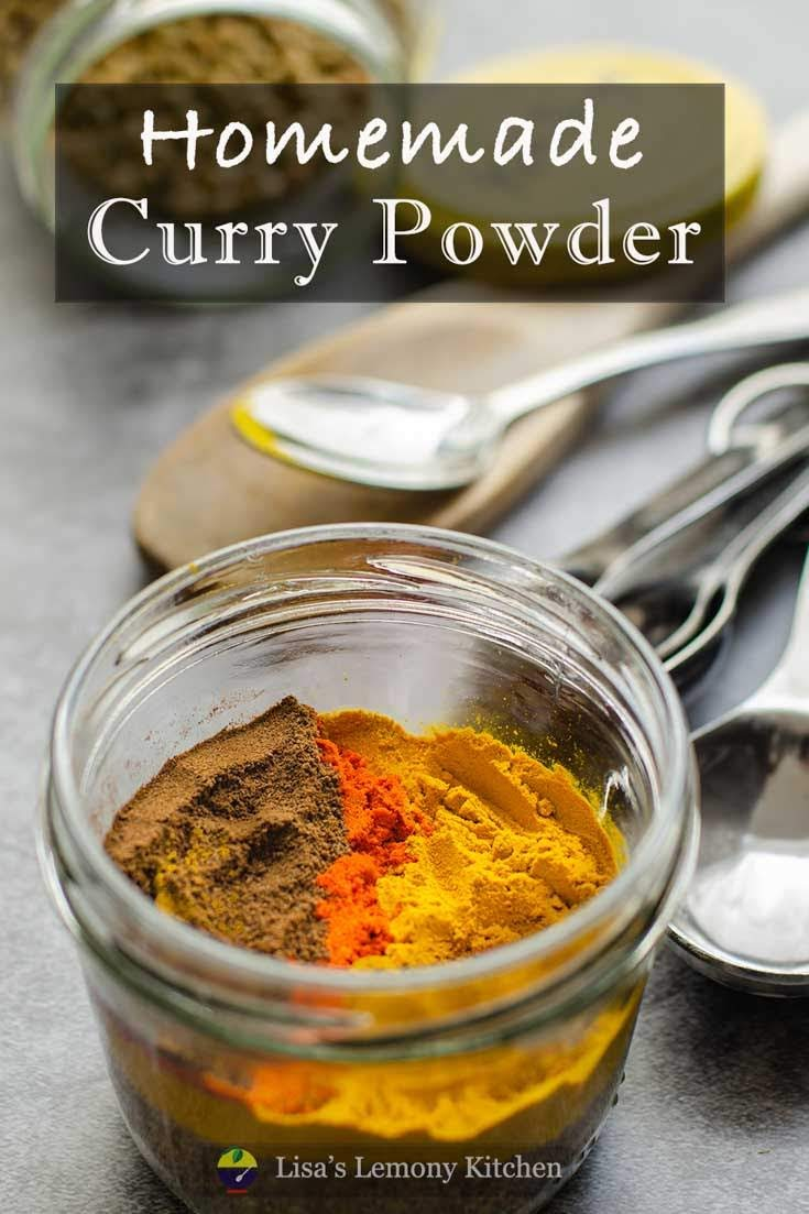 Curry Powder made from scratch.  This homemade curry powder is made of delicious blend of spices, that you can find in your larder/ pantry.