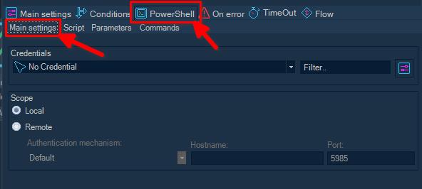 VisualCron: Tarea con PowerShell