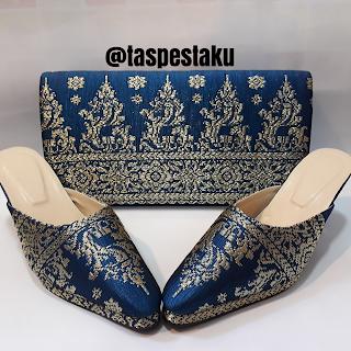 Koleksi Tas Pesta dan Slop Pesta Mewah Bahan SOngket Cantik dan Elegant