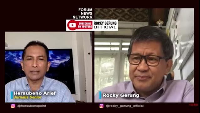 Sebut PDIP Partai Terkorup, Rocky Gerung: Surveinya Bagus Itu Sinyal Palsu
