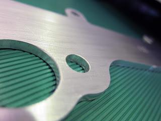 metal part after grinding process