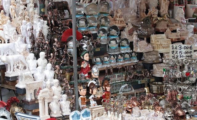 Loja de souvenirs em Veneza