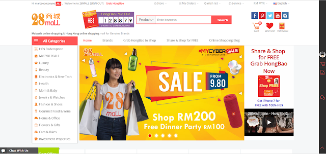 28mall.com #MYCYBERSALE start from 3 September 2018 till 7 September 2018