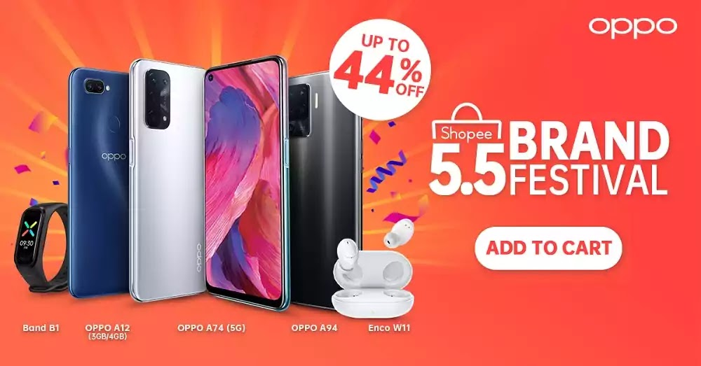 OPPO Super Brand Day Sale on Shopee