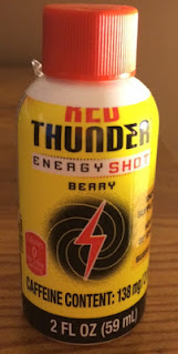 A bottle of Summit Red Thunder Berry Flavored Energy Shot, from Aldi