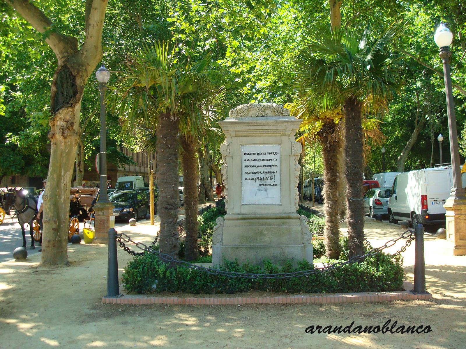 parquemarialuisa-encinarosa: Monumento de Rubén Darío