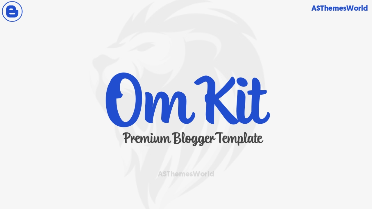 OmKit Premium Blogger Template Free Download