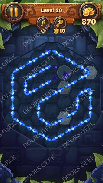 Gems & Magic [Aquamarine] Level 20 Solution, Walkthrough, Cheats