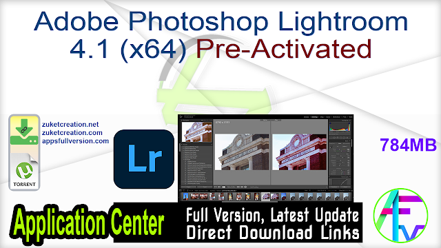 Adobe Photoshop Lightroom 4.1 (x64) Pre-Activated