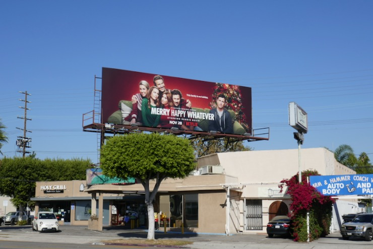 Merry Happy Whatever TV billboard