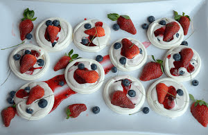 Sweet Berry Pavlovas