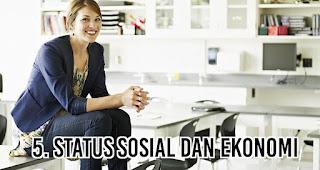 Status sosial dan ekonomi