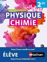 Physique-Chimie Sirius 2de - manuel élève (nouveau programme 2019)