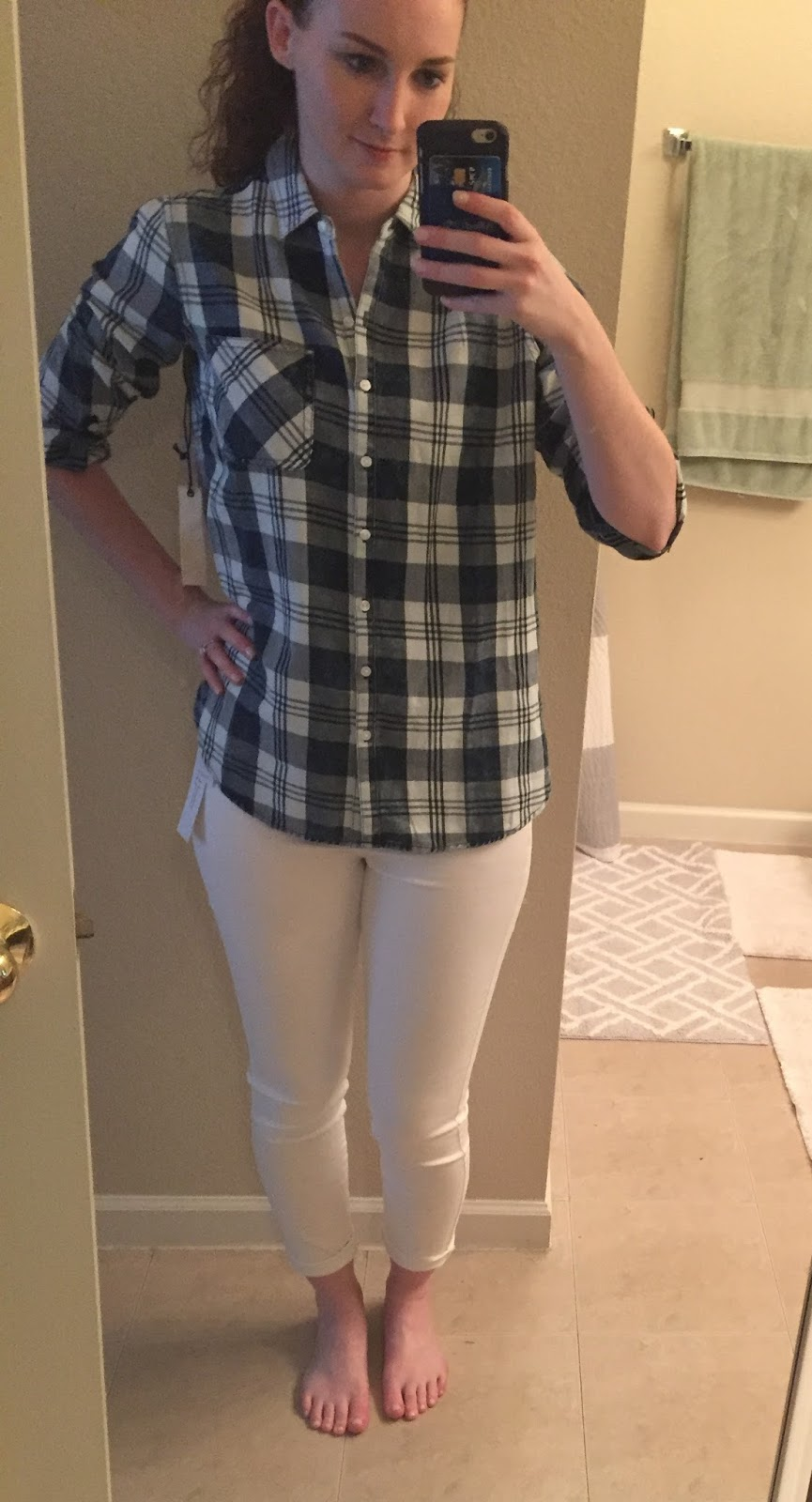 6c94d8d3342 ID: 23 Stephen One Pocket Top – $46 (RETURN). I did ask for a button up  plaid shirt ...