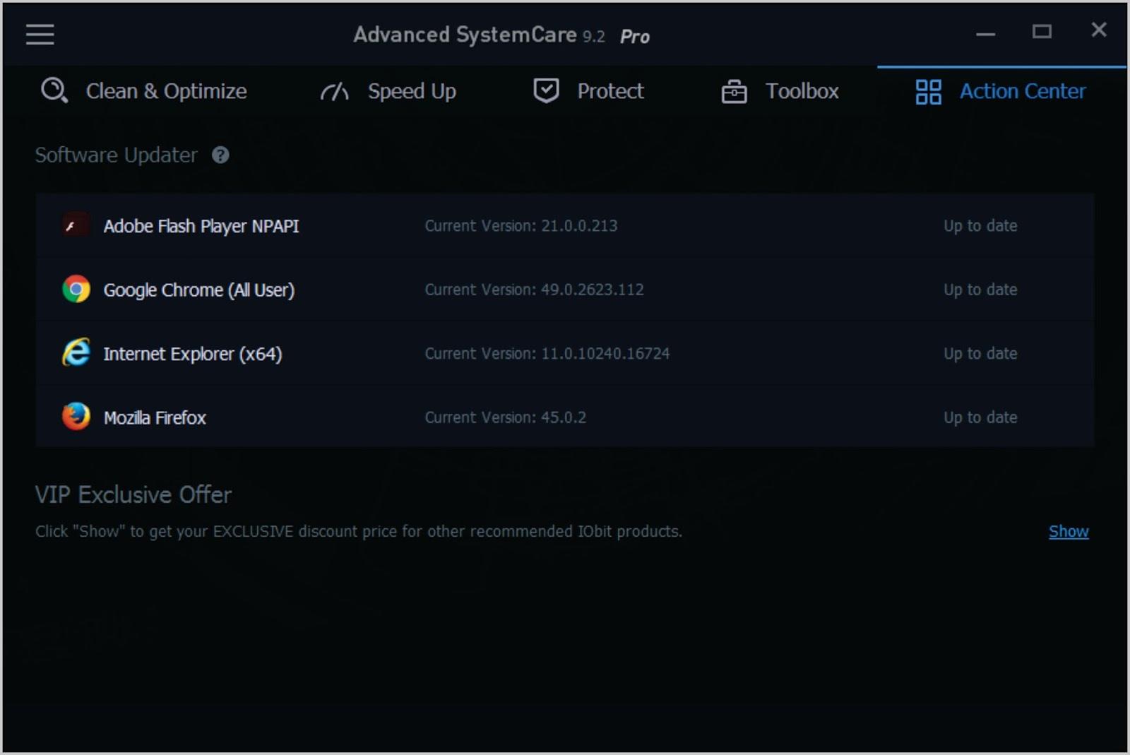 advanced systemcare pro 9.2 лицензионный ключ