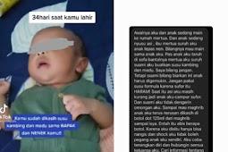 Anggap Susu Formula Haram, Bayi 34 Hari Diberi Minum Susu Kambing dan Madu hingga Keracunan