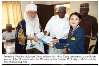 Six Chinese students studied Hausa language in Bayero University Kano