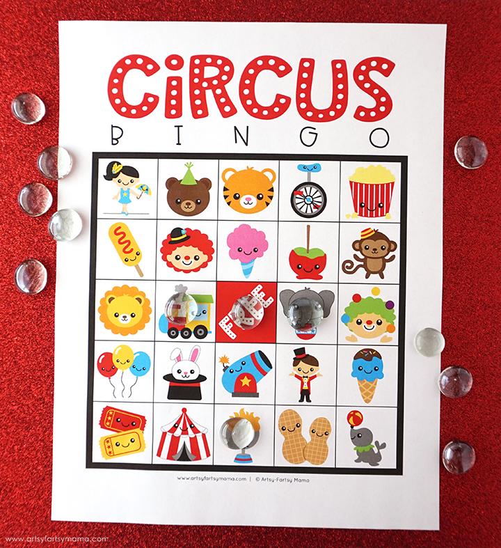 Free Printable Circus Bingo