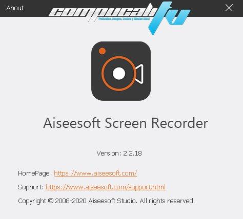 Aiseesoft Screen Recorder Versión Full