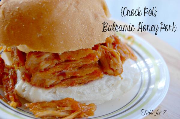 Crock Pot Balsamic Honey Pork