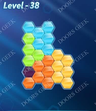 Block! Hexa Puzzle [Intermediate] Level 38 Solution, Cheats, Walkthrough for android, iphone, ipad, ipod