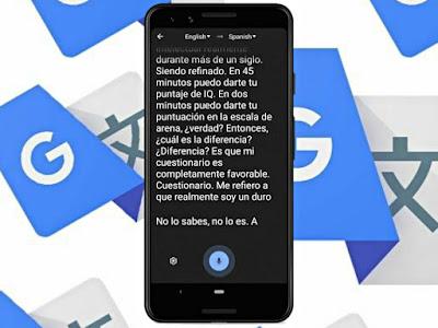 ميزة النسخ الصوتي الفوري في تطبيق الترجمة Google Translate