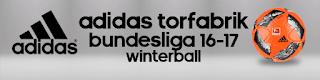Ball Adidas Torfabrik Bundesliga 2016-2017 Winterball Pes 2013