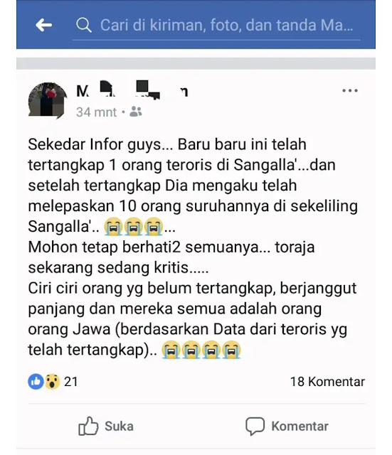 Polres Tana Toraja Kantongi Dua Akun Penyebar Berita Hoax Adanya Teroris di Sangalla