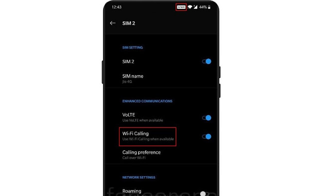 How To Enable And Disable Wifi Calling Oneplus phones In Hindi.