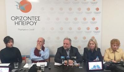 Τον απολογισμό των 100 ημερών της αντιπολιτευτικής θητείας των «Οριζόντων Ηπείρου», έκανε  ο  Σπύρος Ριζόπουλος