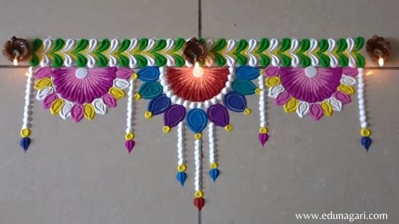 Rangoli design photo