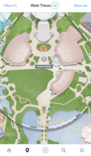 Updated Epcot Future World Map My Disney Experience Missing Fountain of Nations and Communicore West