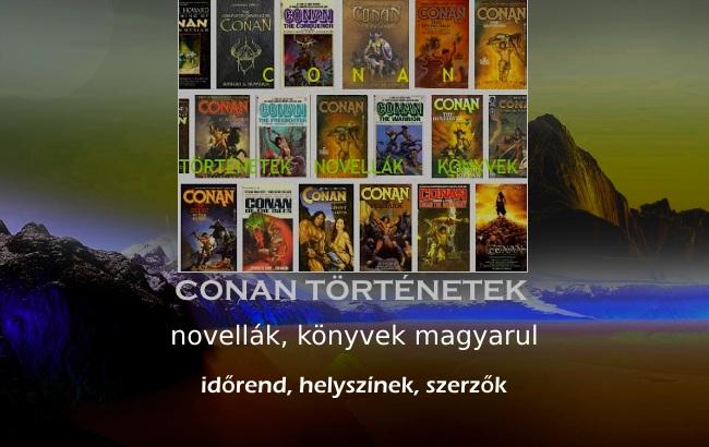 Conan történetek, novellák, könyvek magyarul