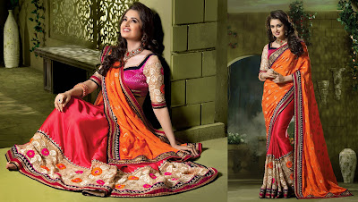 Indian-stylish-crepe-lehenga-silk-sarees-to-keep-you-fashionable-1