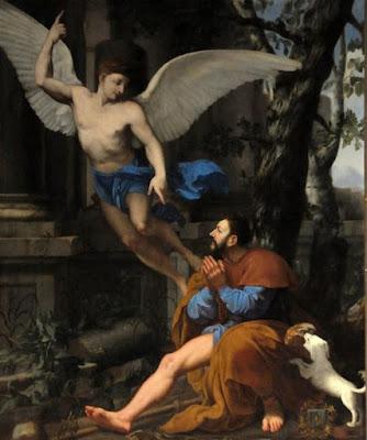 San Roque-vida-milagros-angel-santo patrono de los perros