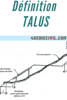 définition talus