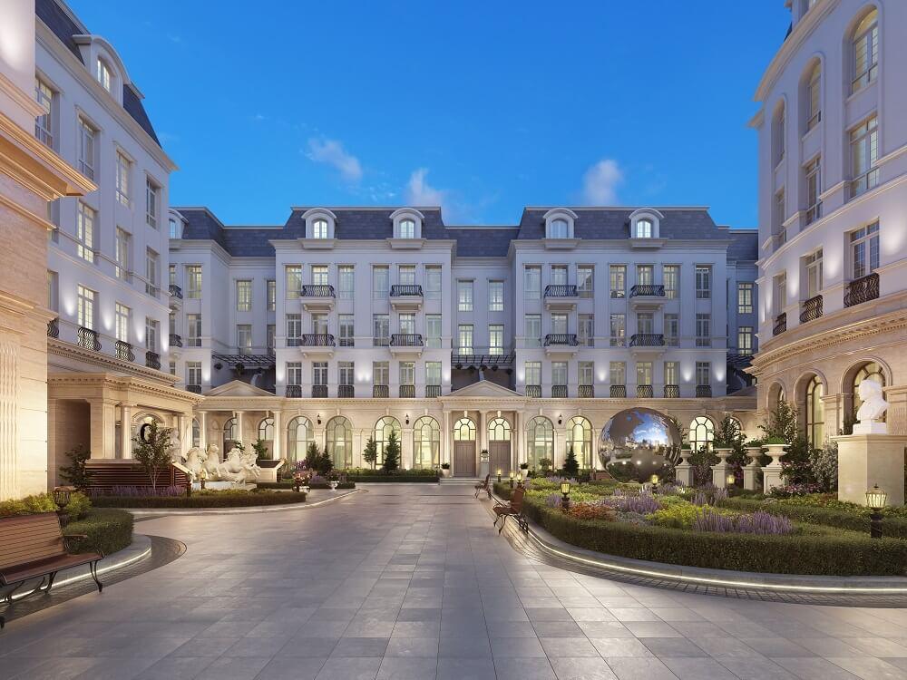 Phối cảnh biệt thự dự án Grandeur Palace Giảng Võ