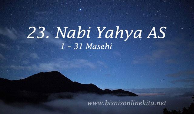 nabi yahya as nama nama nabi