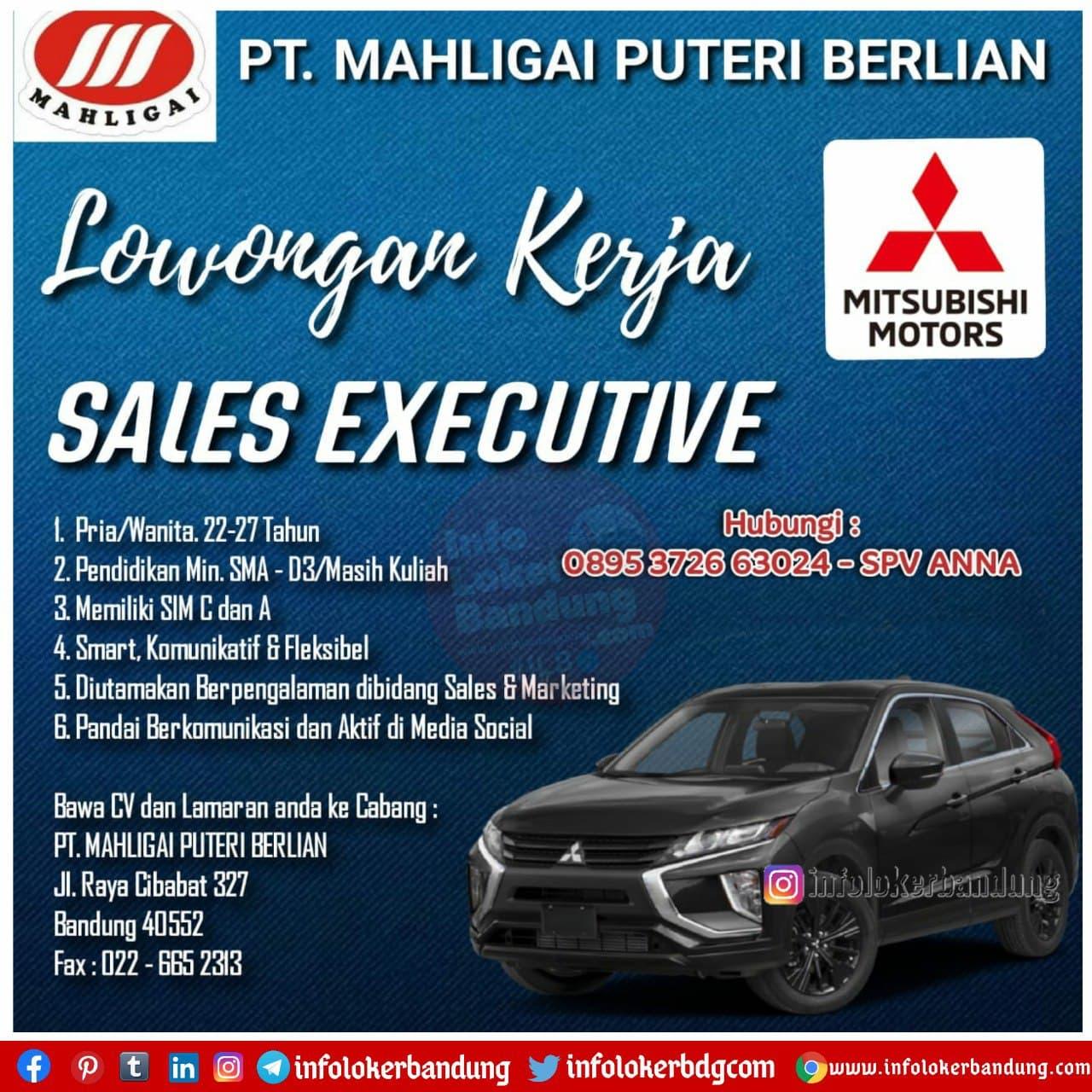 Lowongan Kerja PT. Mahligai Puteri Berlian ( Mitsubishi Motors ) Bandung Januari 2021